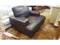 Dark Brown Leather Armchair