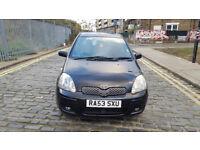 2003 Toyota Yaris 1.3 Black 5dr Hatchback Manual Petrol MOT Jan2018 All previous MOT papers 1owner
