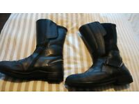 motorbike boots bmw motorad leather/goretex boots size 9/43