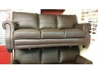 2 X 3 SEATER ALEXANDRIA ITALIAN STYLE LEATHER SOFA £699 WITH OUTER PU MATCH BRAND NEW TOP QUALITY