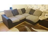 Riley Fabric Regular Corner Sofa - Natural, Sofa £200ono *BARGAIN*