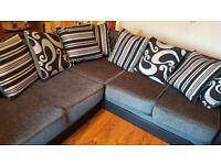 """L shaped corner sofa 26"""" high. 90 X 90 the L Shape"""