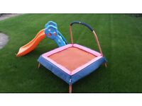 LITTLE TIKES childs slide & trampoline