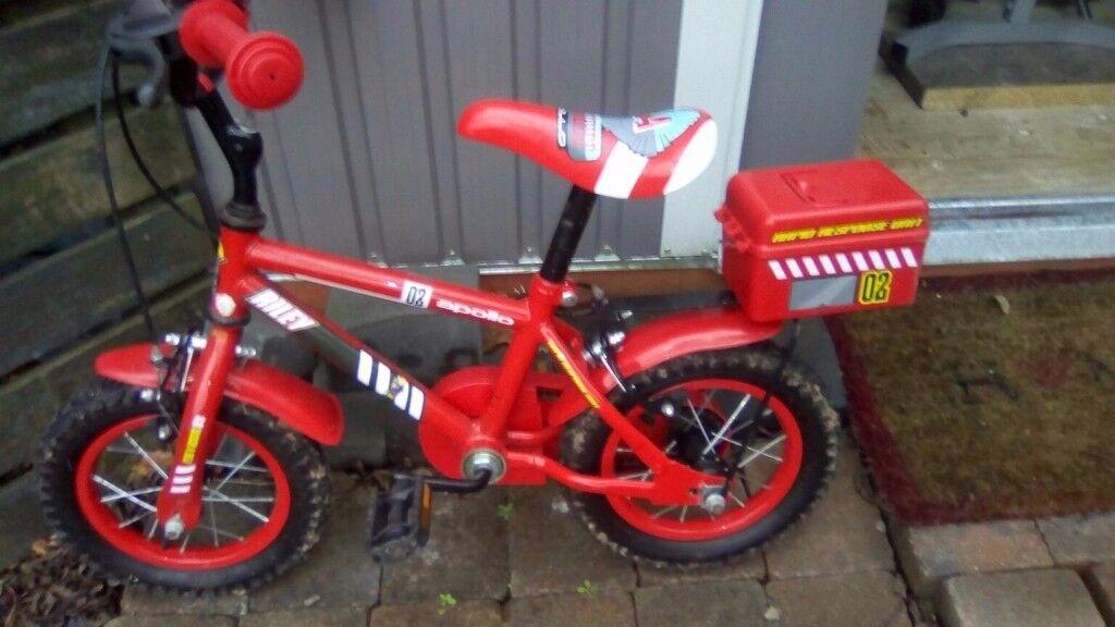 Kids fire engine bike