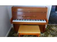 Piano - Zender 6 Octave Overstrung in light mahogany avalable in Exmouth