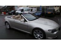 BMW 645 4.4L V8 M SPORT ci CONVERTIBLE SILVER YEAR 2004 M6 EXHAUST LONG MOT QUICK SALE