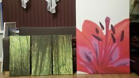 FLOWERS and CANVAS PICTURES