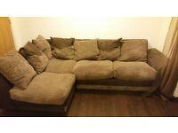 Cuddle swivel chair corner sofa and footstool