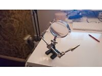 fly tying adjustable stand and magnifying glass