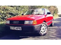 Audi 80 1.8 1990 12mth MOT Excellent condition. Ready to drive away.