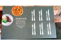 Horwood steak and pizza knives and forks
