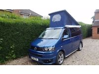 volkswagon t5 t32 olympian blue 4 berth campervan