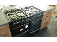 8 burner range style duel fuel cooker