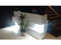 New Reception Desk furniture salon hairdressing chairs backwash basin counter manicure nail table