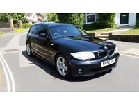 2006 BMW 120D M SPORT AUTOMATIC BLACK 5 DOOR HATCHBACK 105,000 MILES FULL SERVICE HISTORY MOT JAN18