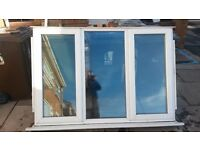 UPVC Double glazed 3-pane window unit. 1760mm (w) x 1230mm (H)