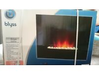 Blyss Wall Hung Electric Fire - Brand New