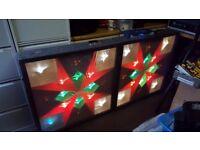 Showtec Mobile disco light boxes 2 off 3ft x 3ft
