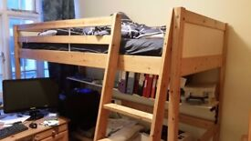 IKEA Pine bunk bed, with mattress and cover in good condition