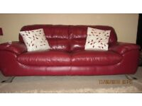 Large 3 Seat Leather Sofa and Large Chair set