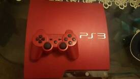 Ps3 320gb red slim & games