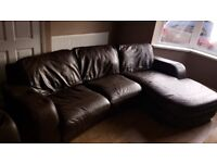 3 seater corner sofa and chair