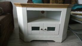 White TV corner unit £80 ONO