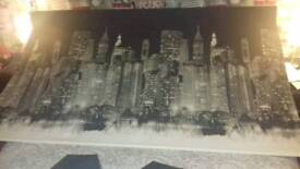 6ft new york skyline roller blind