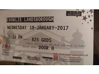 Charlie Landsborough Tickets x 2