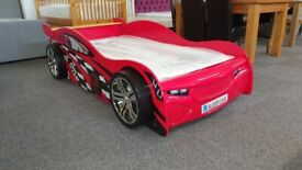 Scorpion Racer Bed in Red & Budget Single Mattress Can Deliver