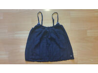 Abercrombie and Fitch Navy Lacey Strappy Summer Cami Top Size - XS (6-8) Excellent Condition