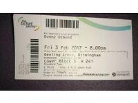 Donny Osmond Genting Arena, Birmingham Fri Feb 3 2017