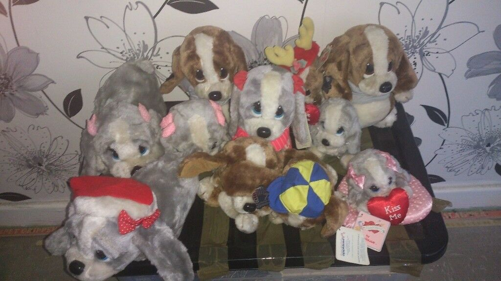 11 small collectible sad sam vintage cuddly toys