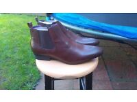 Leather Chealsea Boots in Brown Size 11 NEW NOT WORN.