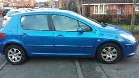2006 peugeot 307s, 5 door hatch, 1.4 petrol engine. ALSO HAS OVER HALF A TANK OF PETROL IN CAR.
