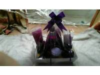 Fruits bath gift set and candle