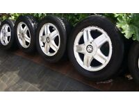 15 inch ZAFIRA VECTRA ASTRA ALLOYS WITH EXCELLENT TYRES 5 STUD 5 × 110