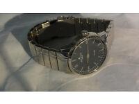 Jeff Banks Oversize Mens Watch Wristwatch Fashion Designer Steel Body & Bracelet 5ATM Waterproof