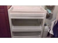 White painted changing table (pine)