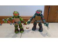 Teenage Mutant Ninja Turtles Talking Figures Mike And Raphael