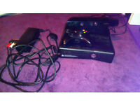 Xbox 360 with Kinect and 18 games.