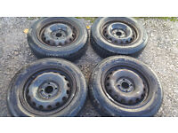 175 65 14 4 x steel wheels PCD 4 x 100 Vauxhall, renault and more...