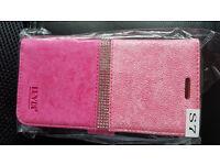 s7 flip book type case pink.