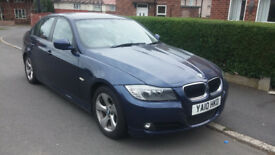 2010 BMW 320d Efficient Dynamics met blue 4dr £20 tax 60+mpg Long MOT Full Service History hpi clear