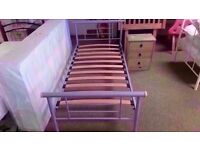 GREAT CONDITION! 3ft metal bed frame single bed ex-display/floor model
