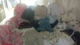Girls baby clothes and grobags