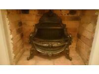 Cast iron black fire basket