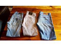 💥Gstar Raw denims x3 pairs. 31 waist, 32 leg.