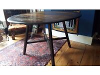 Ercol oval extending dining table vintage/retro