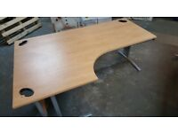 Office Desk/Table Large Right or Left Side High Quality Good Condition
